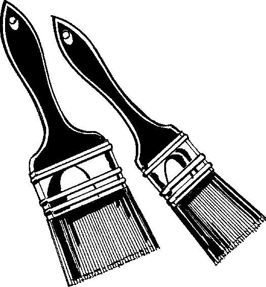 Paint Brush Clip Art Black And White - ClipArt Best