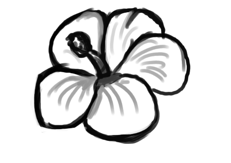 Easy Flowers Drawings Step By Step Clipart Best