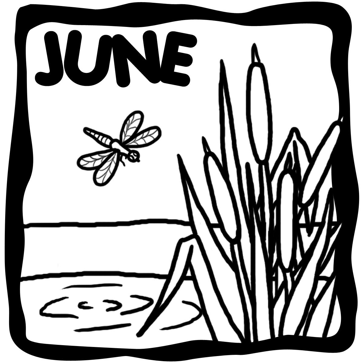 Clip June art black and white pictures