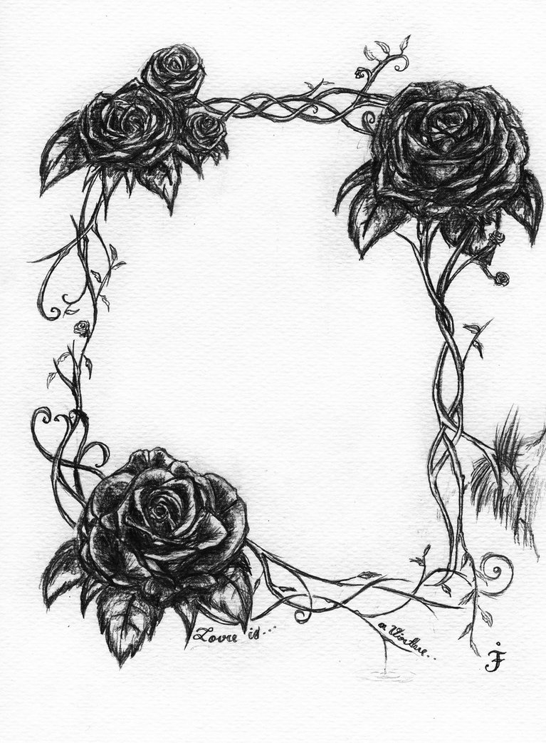 Flowers And Vines Drawing - ClipArt Best