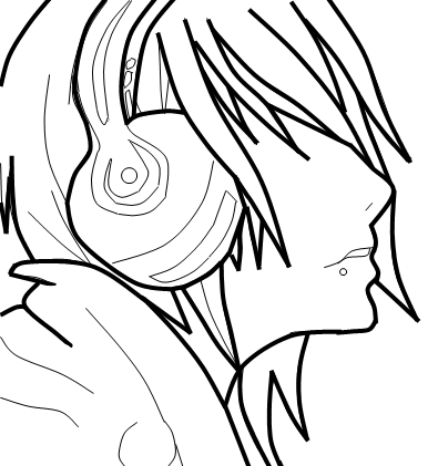Emo drawings clipart best for Emo coloring pages