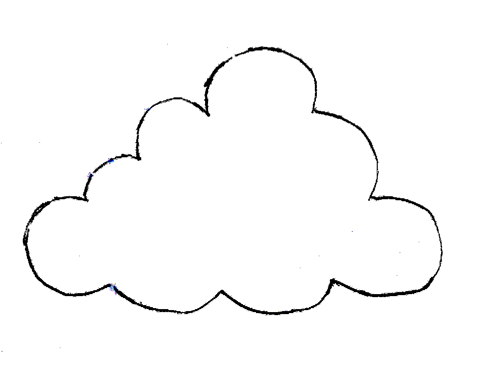 raindrop coloring pages clouds - photo#4
