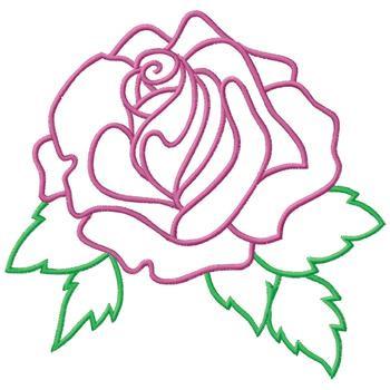 Rose Outline - ClipArt Best
