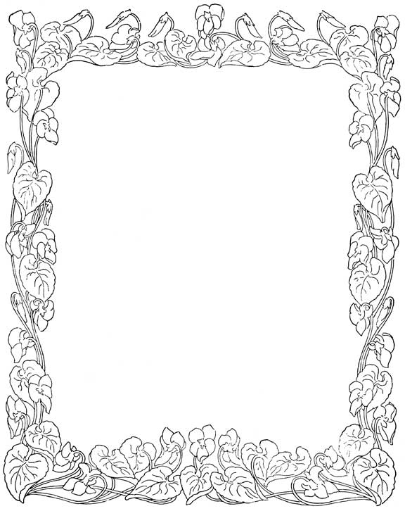 Detailed Coloring Pages Flower Border Coloring Pages