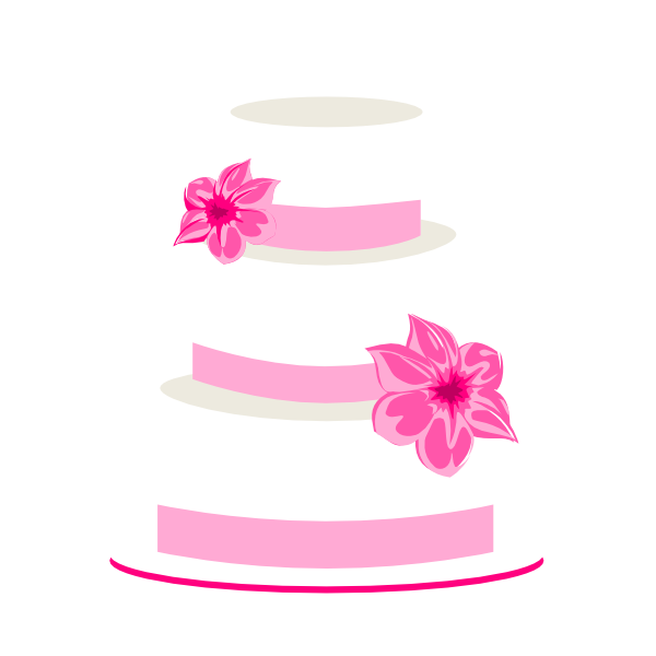 Pink Wedding Cake Clipart