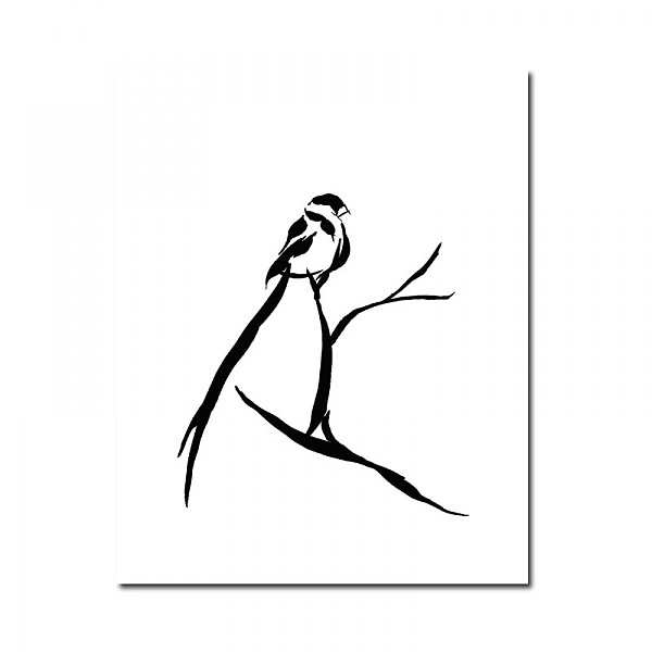 Black and white bird art clipart best for Best black and white prints