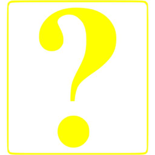 Yellow question mark 8 icon - Free yellow question mark icons Yellow Question Marks