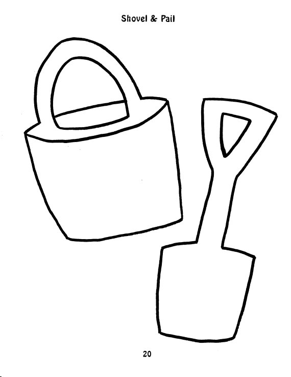 Printable Pail and Shovel Coloring coloring page summer