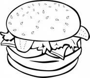 Hamburger Clipart Black And White - Free Clipart ...