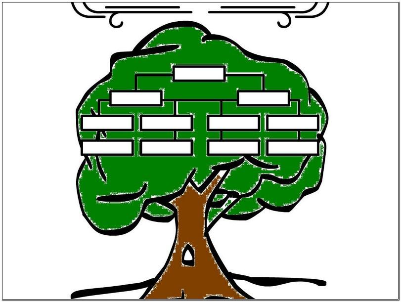 Blank family tree