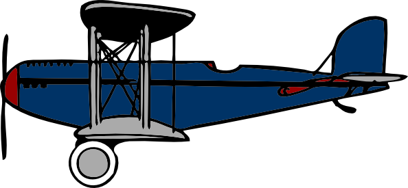 Red Blue Biplane clip art - vector clip art online, royalty free ...