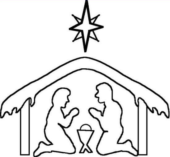 Line Drawing Nativity : Image gallery nativity scene outline