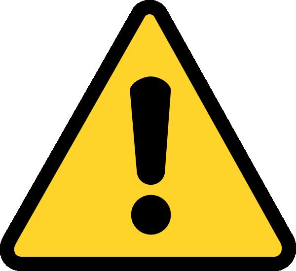 Warning Icon clip art - vector clip art online, royalty free ...