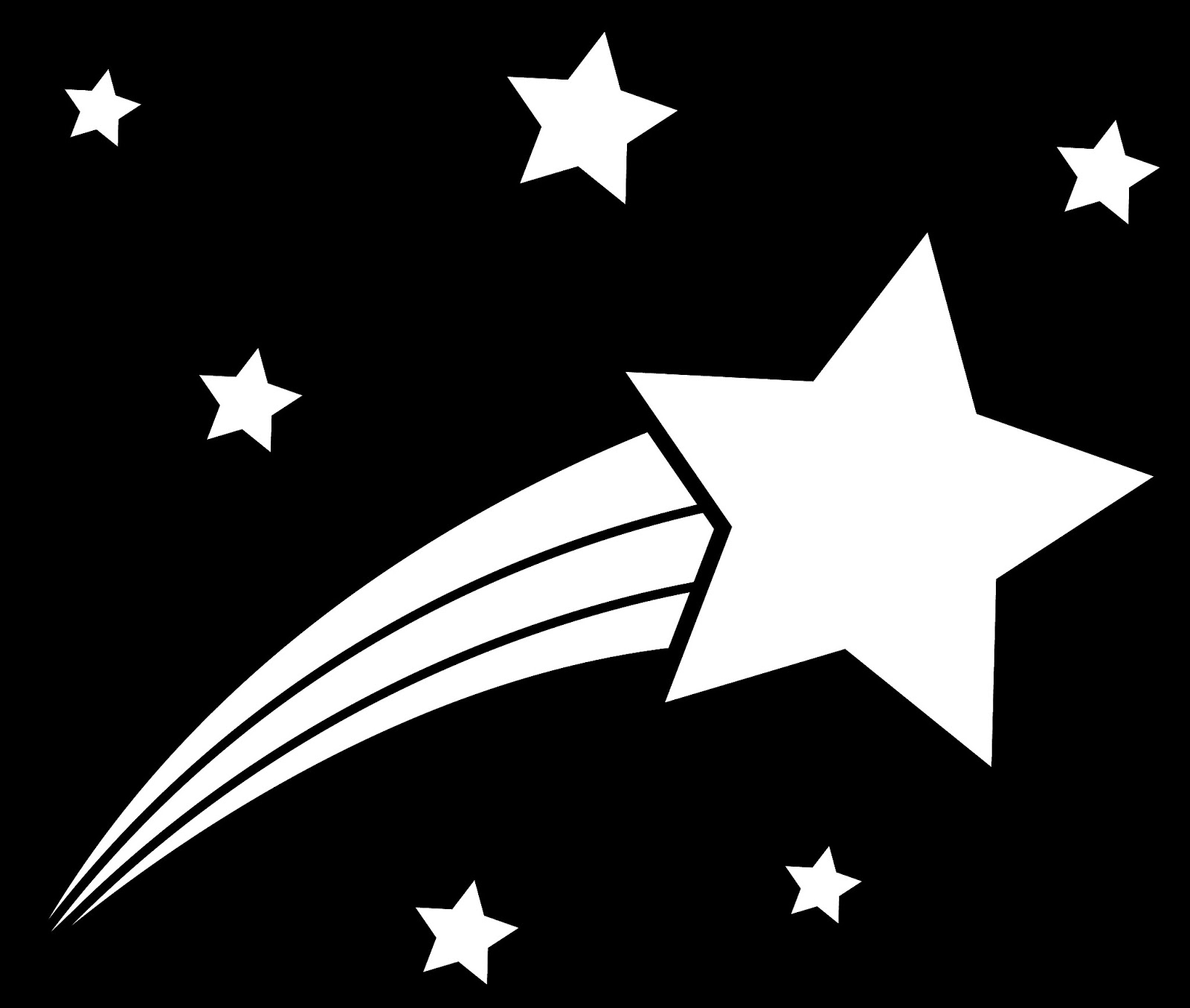 Shooting Star Clipart Black And White - ClipArt Best