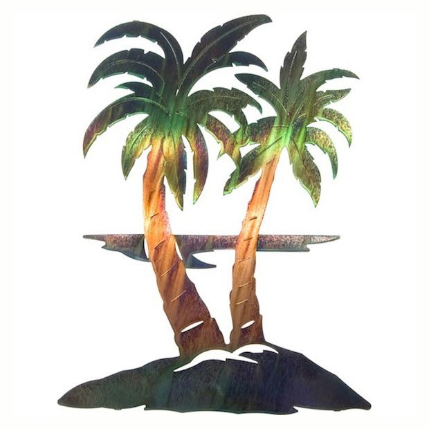 caribbean swirl palm tree art unique metal wall art clipart best