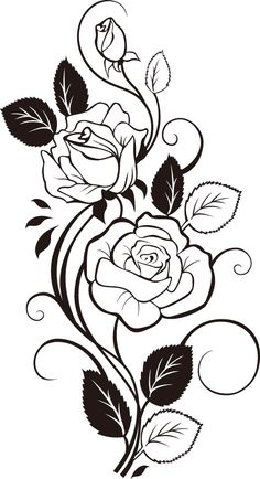 Rose Vine Tattoo Designs And Drawings Sketch Coloring Page