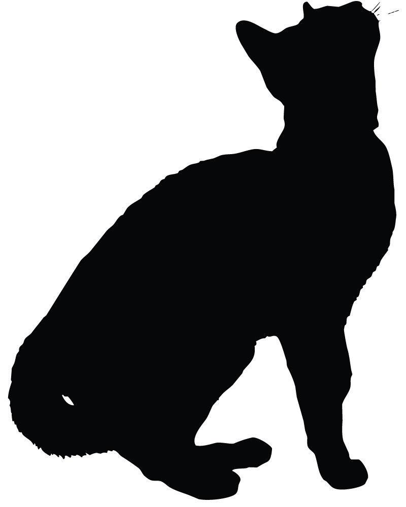 cat silhouette vector   clipart best
