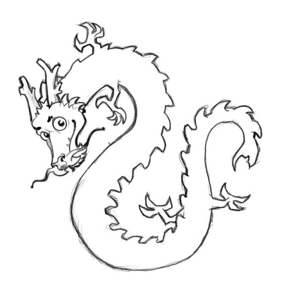 friendly chinese dragons coloring pages - photo#39