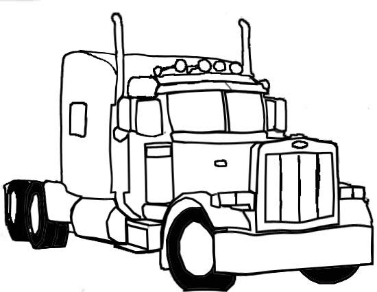 Pix For gt Semi Truck Drawings In Pencil ClipArt Best