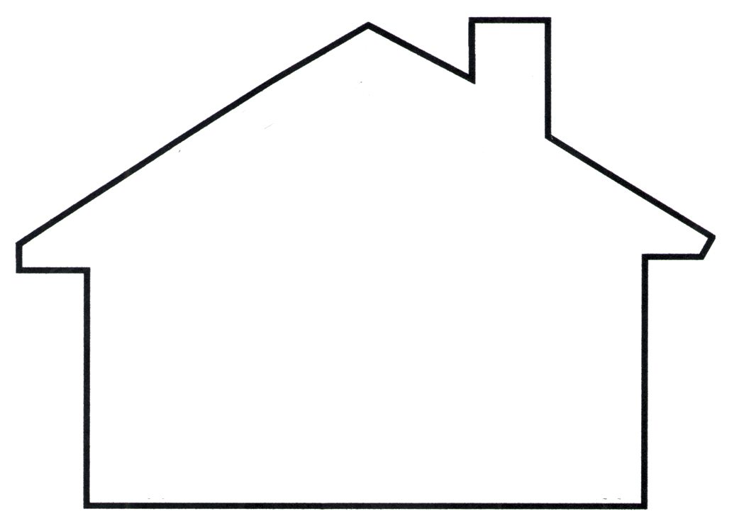 House outline template amazing ideas 9 on house simple home design