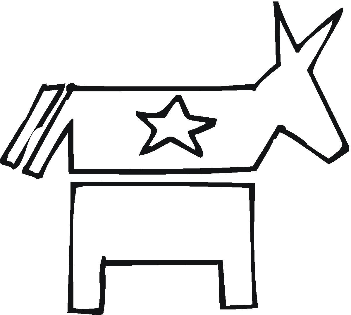 coloring pages for democratic party - photo#25