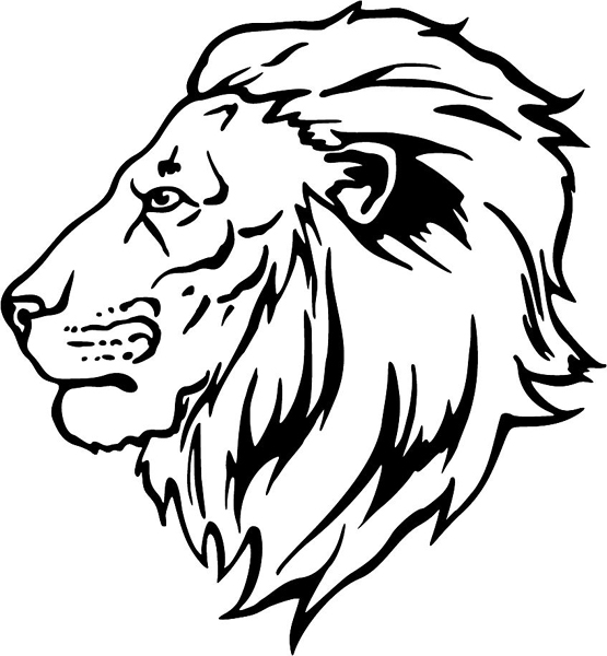 Line Drawing Lion Head : Lion head drawing for kids clipart best