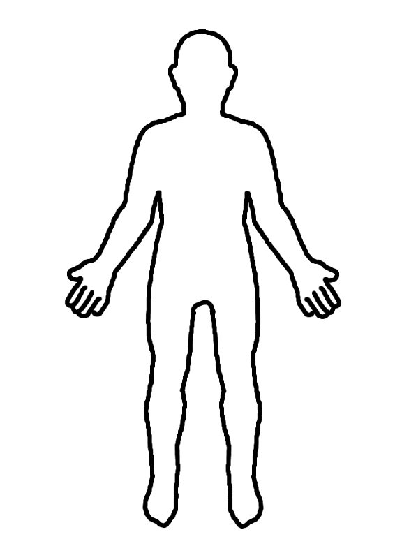 It is an image of Peaceful Person Outline Printable
