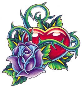 Heart With Rose Tattoo - ClipArt Best