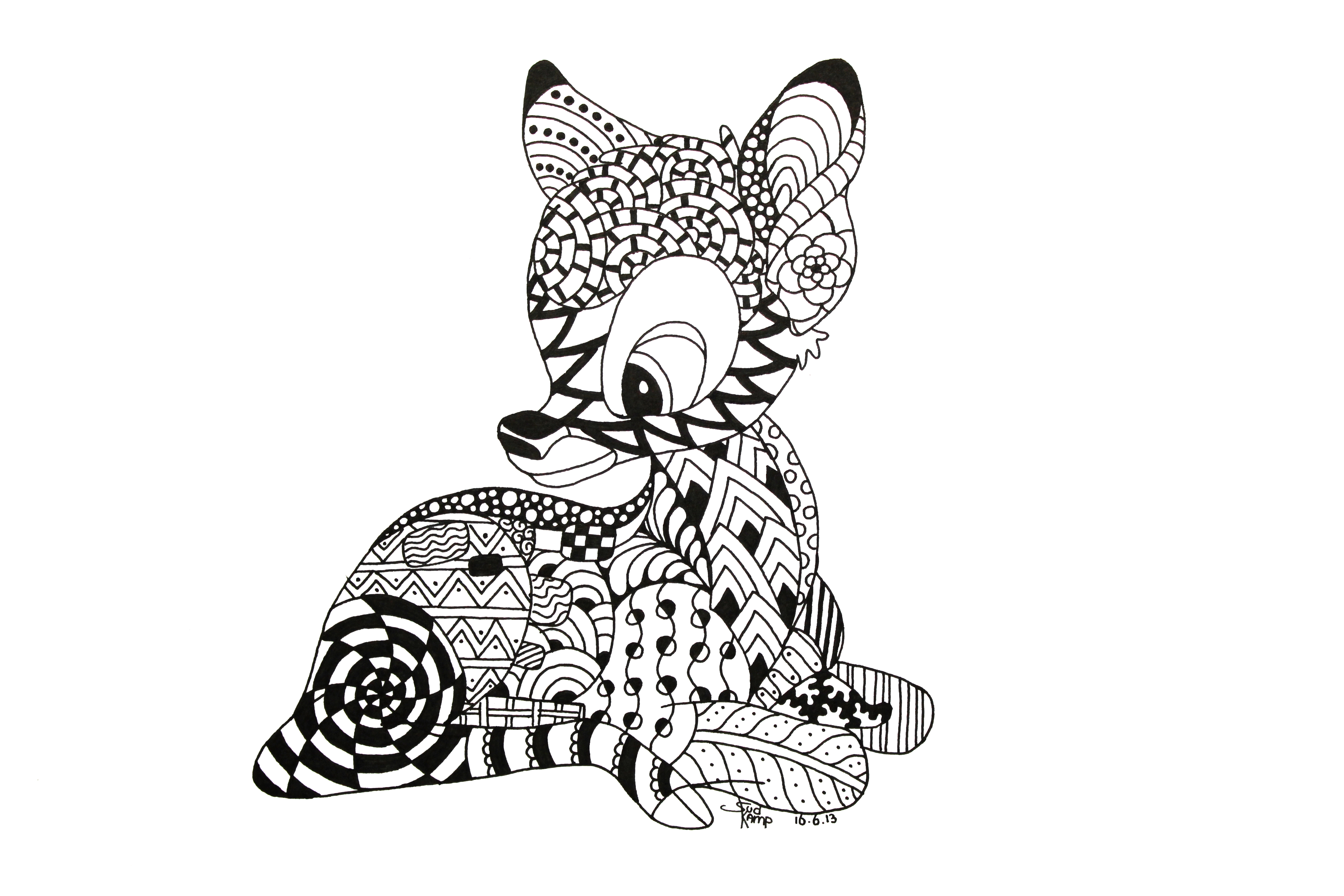 Animal Zentangle Coloring Pages : Zentangles Of Animals ClipArt Best