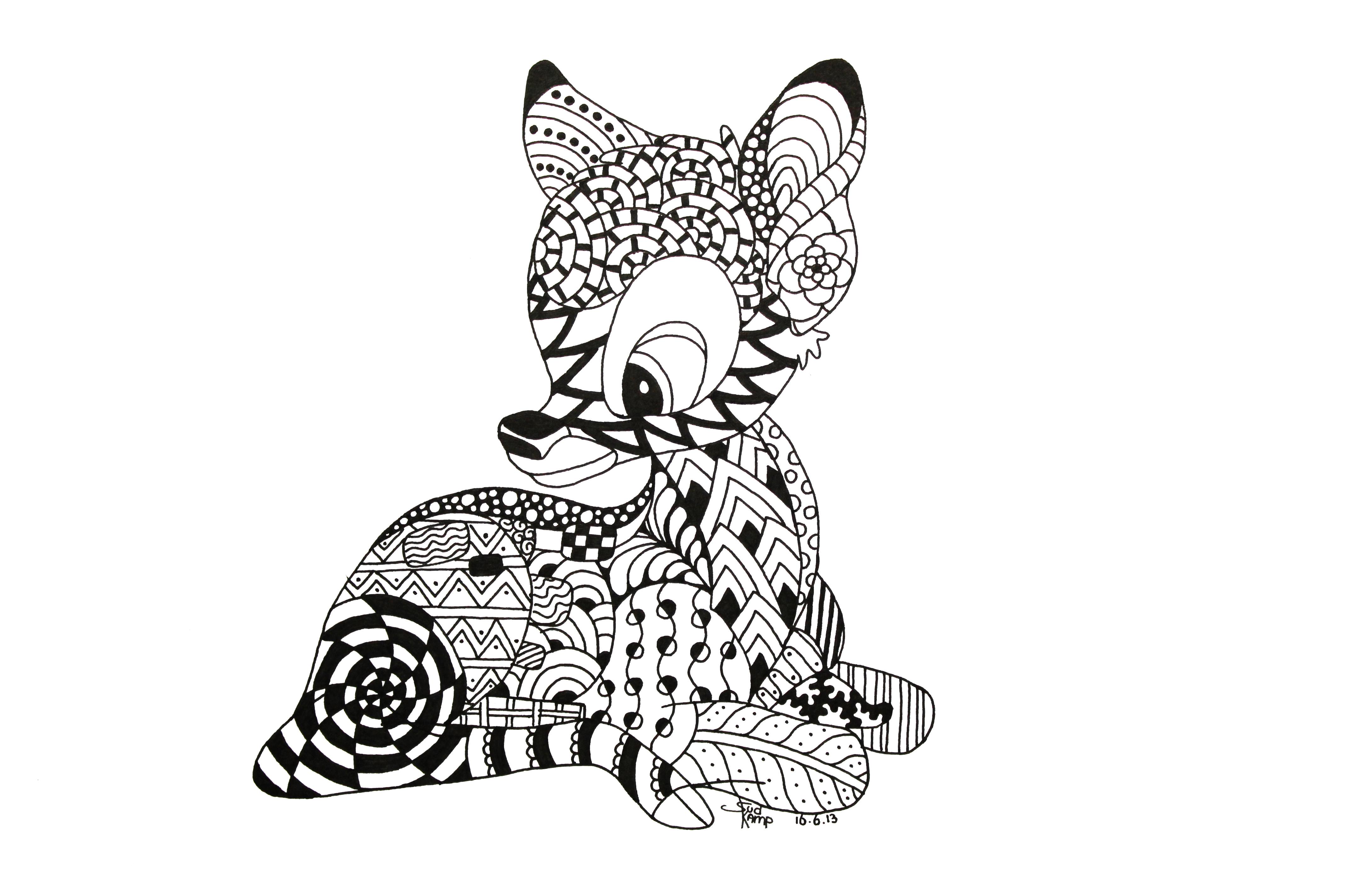 Zen Art Coloring Book : Zentangles Of Animals ClipArt Best
