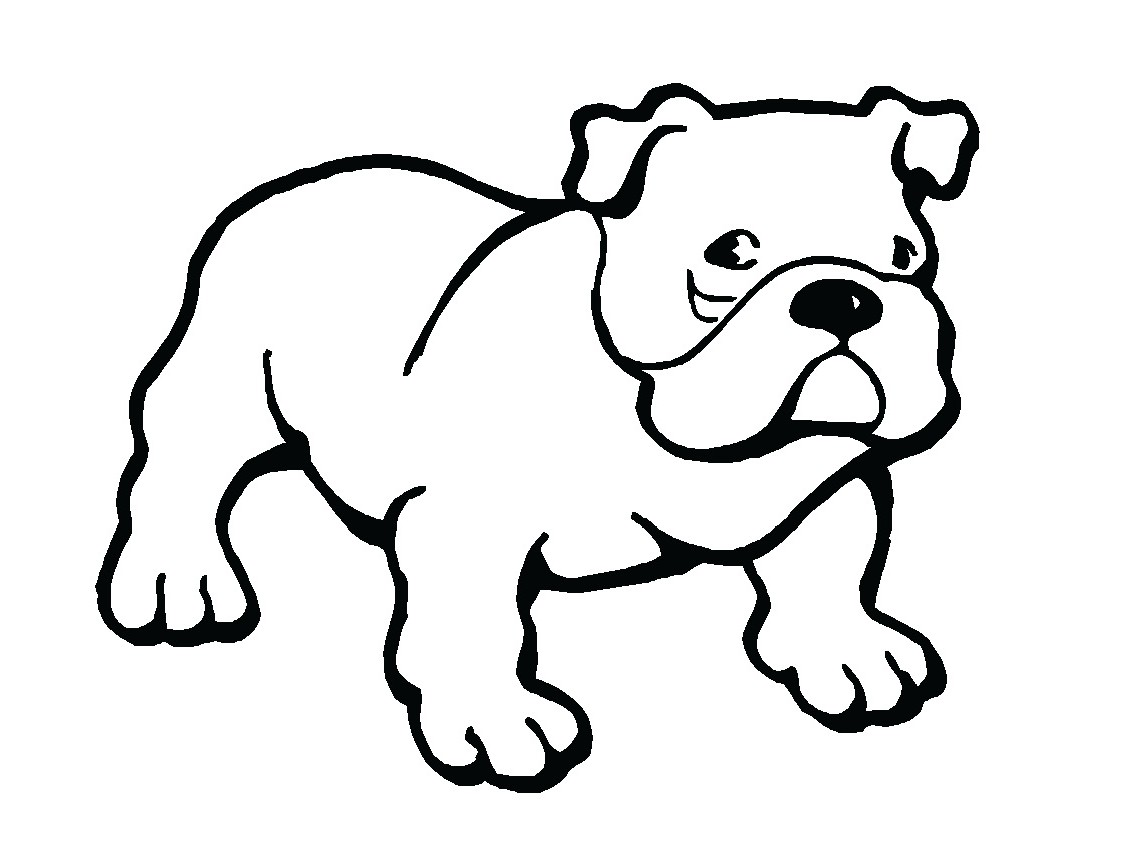 Bulldog Outline Clipart Best