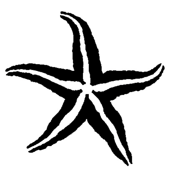 starfish stencil free clipart best. Black Bedroom Furniture Sets. Home Design Ideas