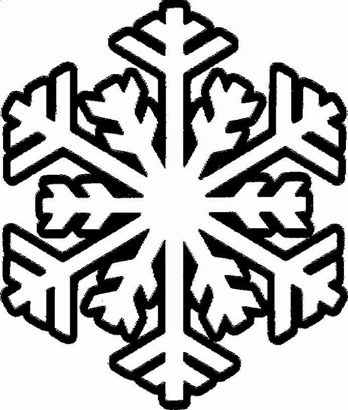 Snowflake Colouring Clipart Best