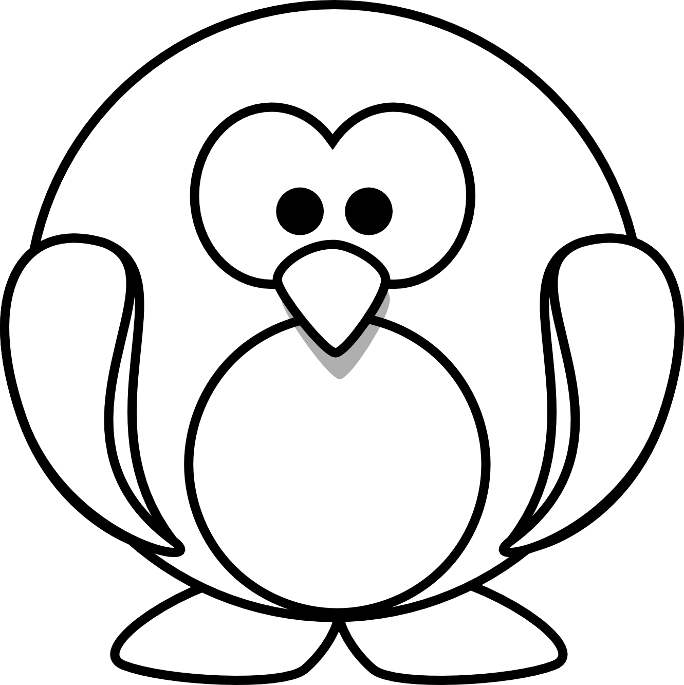 cartoon penguins coloring pages - photo#12