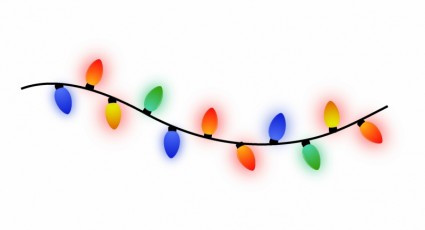 Real christmas lights clipart