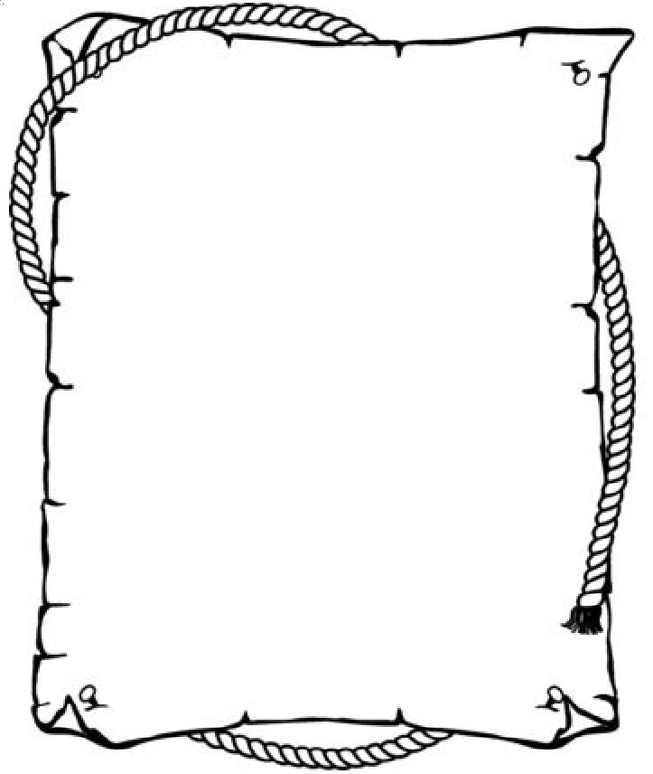 scroll outline template - blank treasure map template clipart best