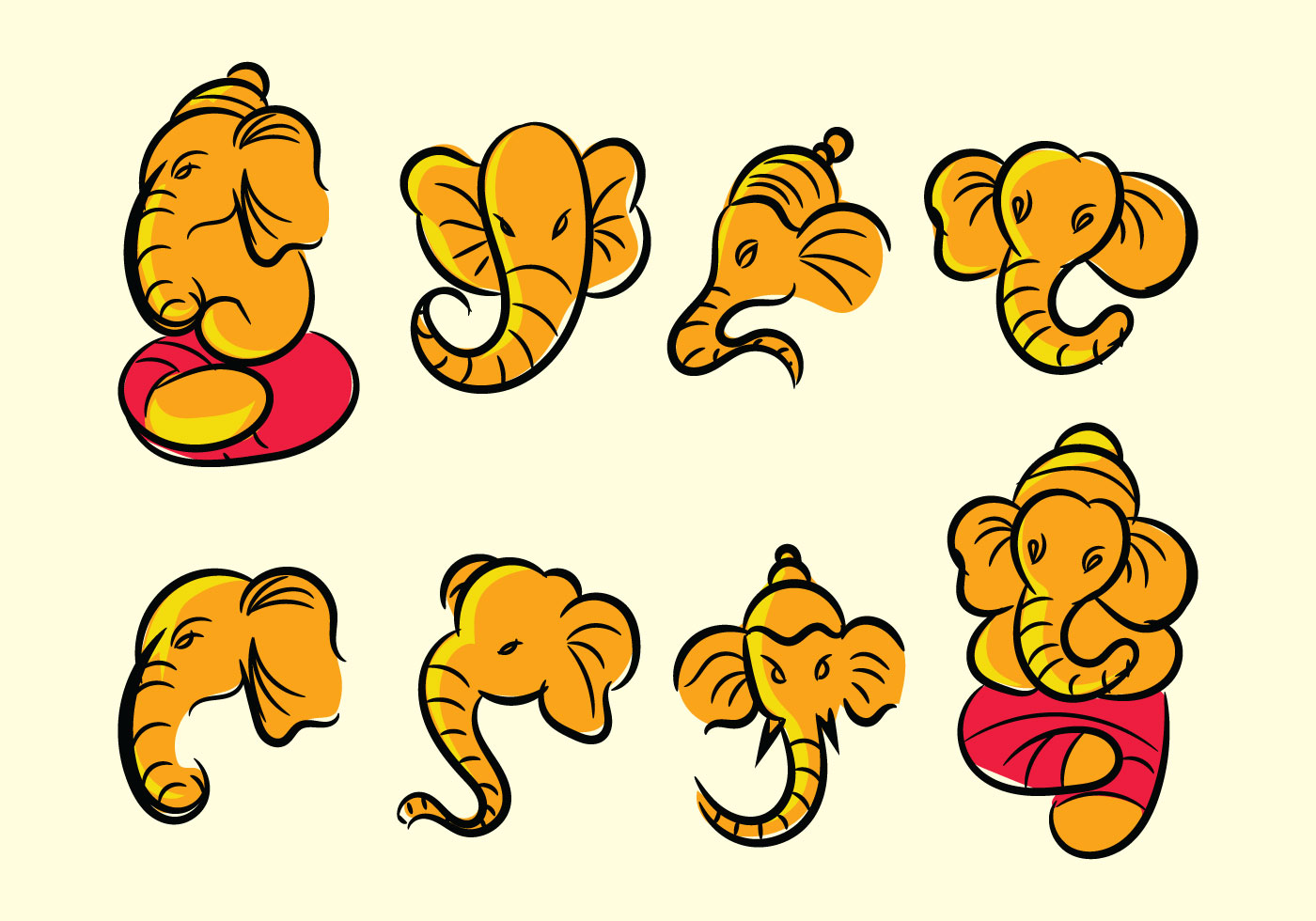 Ganesh Icon Vector - Download Free Vector Art, Stock Graphics & Images