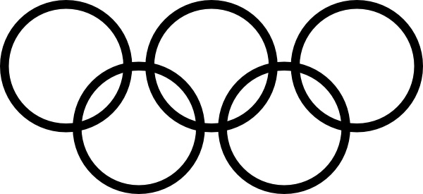 Olympic Rings Icon clip art Free vector in Open office drawing svg ...