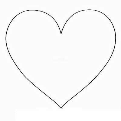 Paper heart template clipart best for Paper star cut out template