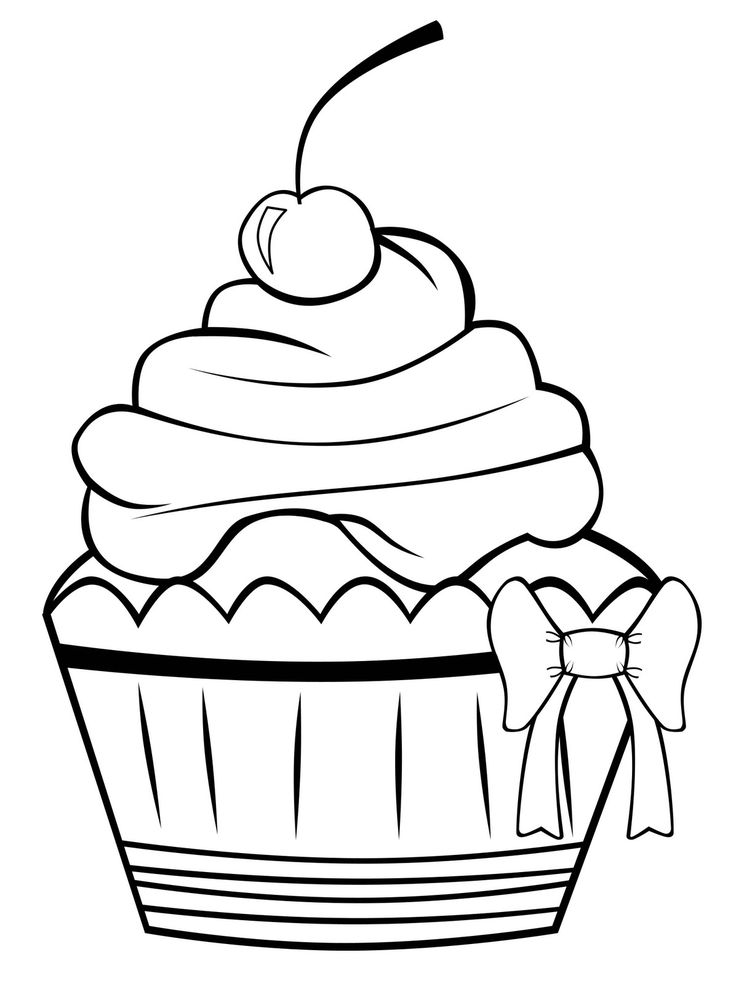Line Drawing Cake : Cake line drawing clipart best