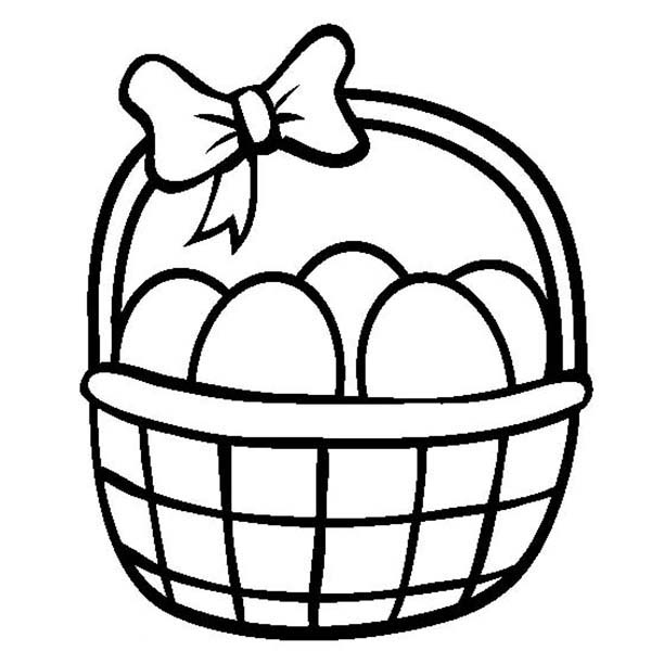 Coloring Pages Easter Baskets