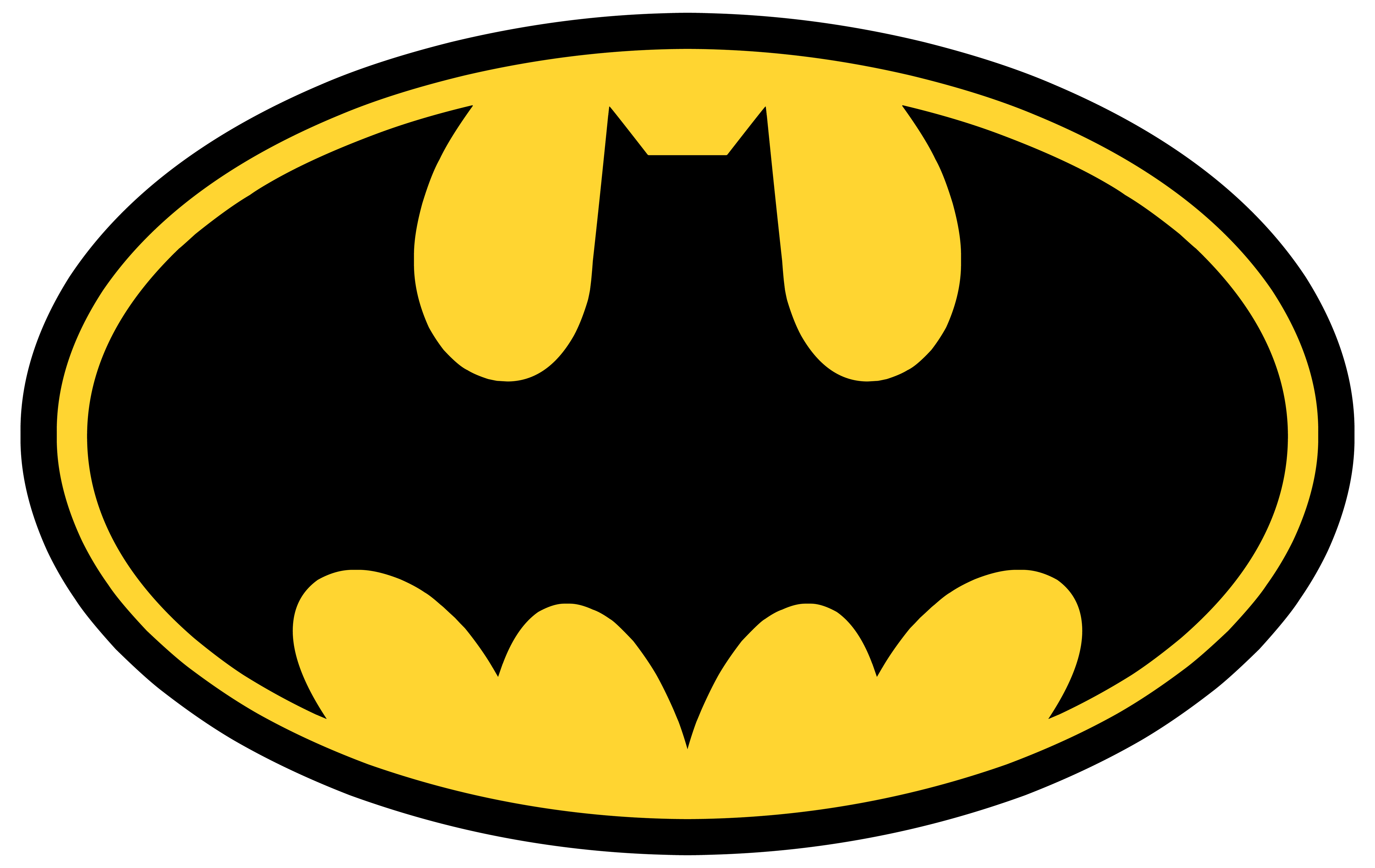 Logos For > Batman Logo Black And Yellow - ClipArt Best - ClipArt Best