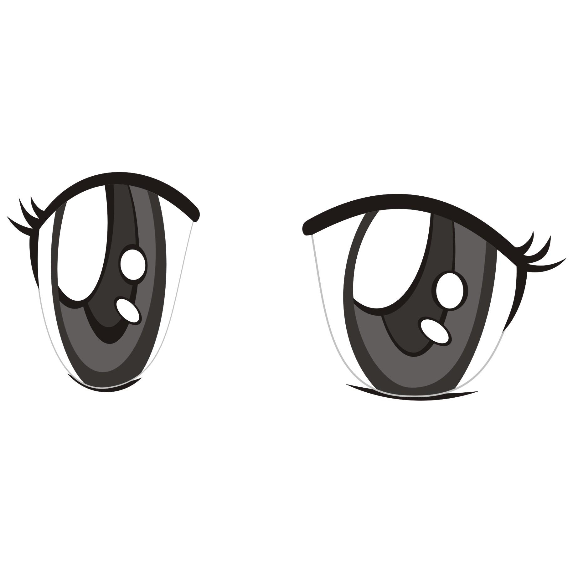anime girl eyes clipart clipart best
