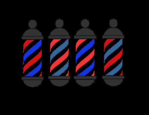 logo barber shop clipart best barber pole clip art blue red white barber pole clipart vector