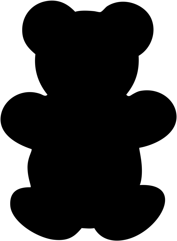 Teddy Bear Shape Clipart Best