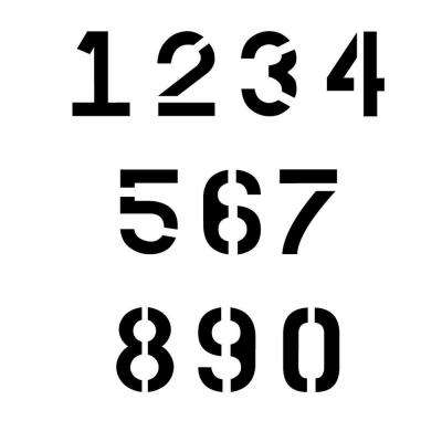 Numbers Stencils Clipart Best