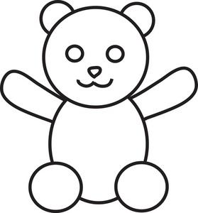 Gummy Bear Outline - ClipArt Best