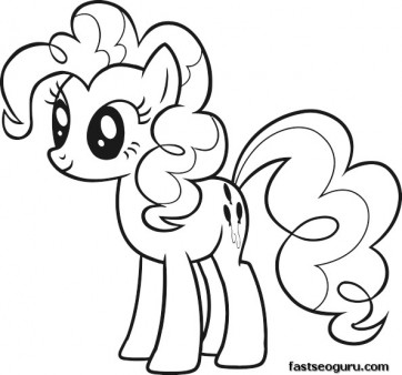 Printable My Little Pony Friendship Is Magic Pinkie Pie coloring ...