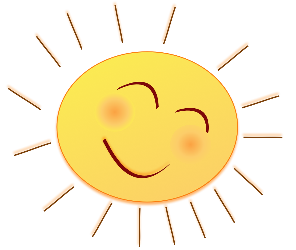 Sun drawing clipart