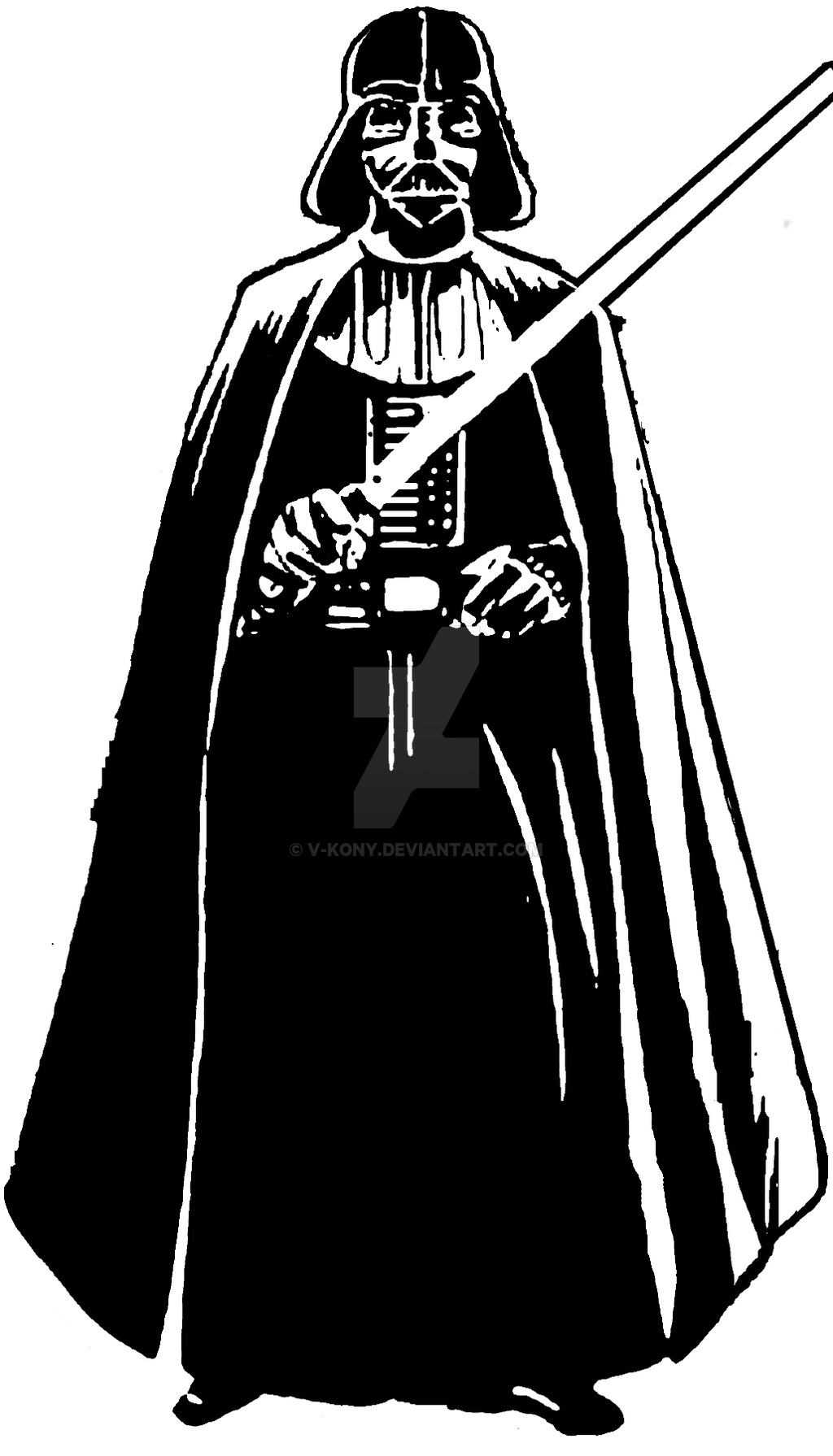 Darth vader clip art tumundografico clipart best for Darth vader black and white